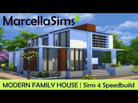 Sims 4 Speedbuild | MODERN FAMILY HOUSE