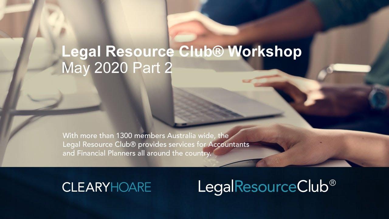 Legal Resource Club® Workshop 2020