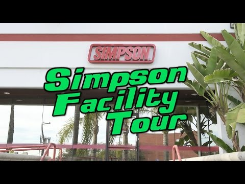 Simpson Performance Products Facility Tour