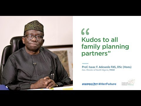 Honorable Minister of Health Nigeria shares his goodwill message for World Population Day