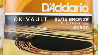 D'addario Guitar Strings unboxing and first Impressions