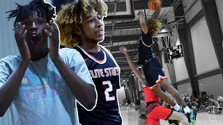 JD Davison Has UNREAL Bounce! 5-Star PG CATCHES A BODY & GOES OFF w/ His New AAU Team