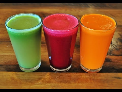 Juicing With Fruits and Vegetables (3 Kinds of Juices)