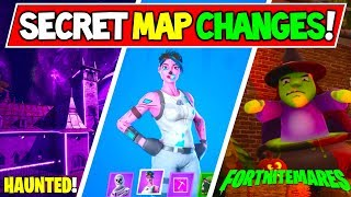 "*NEW* Fortnite SECRET MAP CHANGES in Fortnitemares ""Haunted House"" +""Pink Ghoul Trooper"" (Week 2)"