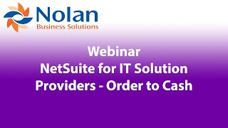 NetSuite for IT Solution Providers – Order to Cash