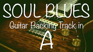 Soul Blues Guitar Backing Track in A