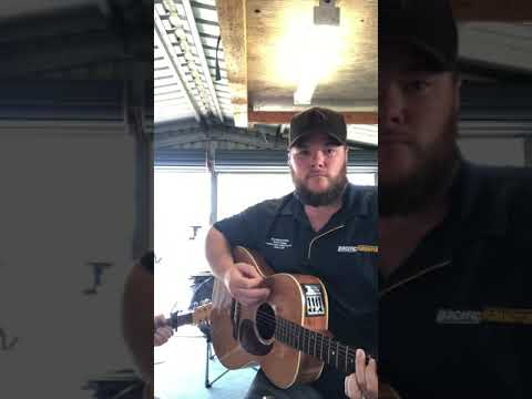 Josh Geiger singing Luke Combs Hurricane.