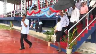 President Ramotar commissions synthetic track at Leonora W.C.D