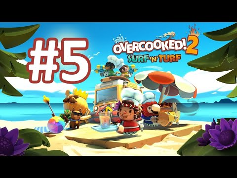 Kevin is the Dog | Overcooked 2 Surf 'n' Turf DLC Part 5 |