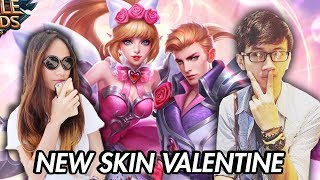 NEW SKIN VALENTINE MIYA + ALUCARD WITH VANIA DELICIA - MOBILE LEGENDS