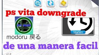 Tutorial: PS VITA downgrade  de 3.68 a 3.60 o 3.65