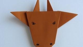 Origami Bull Face