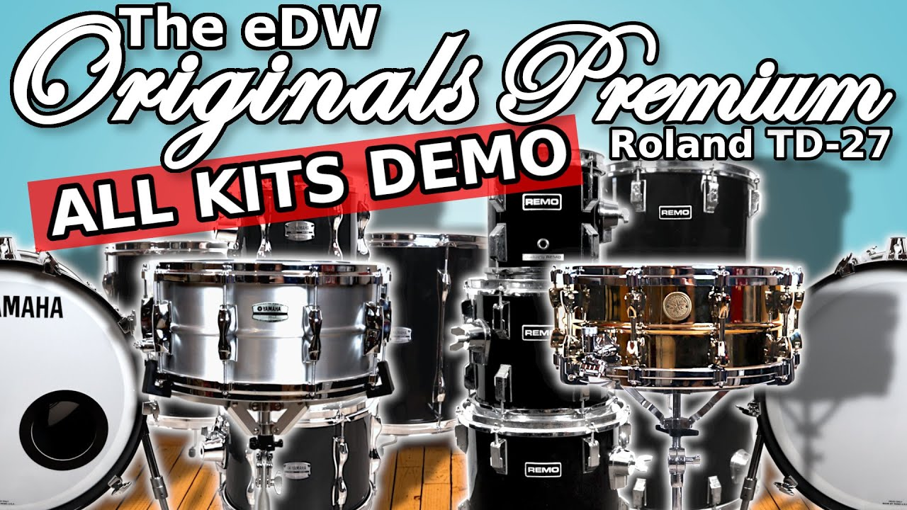 Download The eDW Originals Premium | Roland TD-27 Custom Kits Download | Sound Expansion Pack with Samples