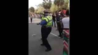 Cops Doing the Wobble Dance at Mardi Gras Parade in New Orleans