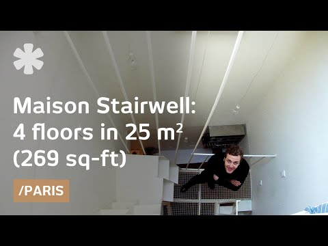 Paris' maison-stairwell stacks 4 floors in 25 sqm (269 sq ft)