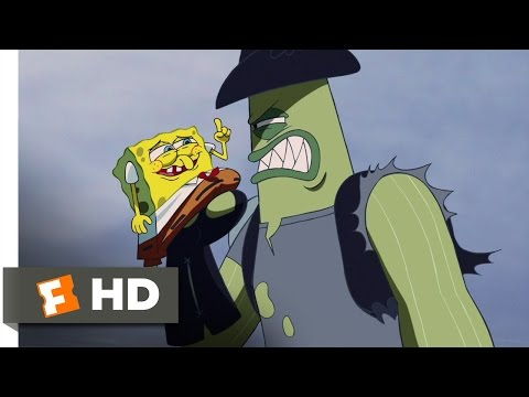 The SpongeBob SquarePants Movie (9/10) Movie CLIP - Dennis Always Gets His Man (2004) HD