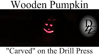 "Wooden ""carved"" Pumpkin Porch Decoration"