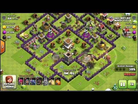 Clash Of Clans Level 8 Town Hall Attack COC 2019 EP1