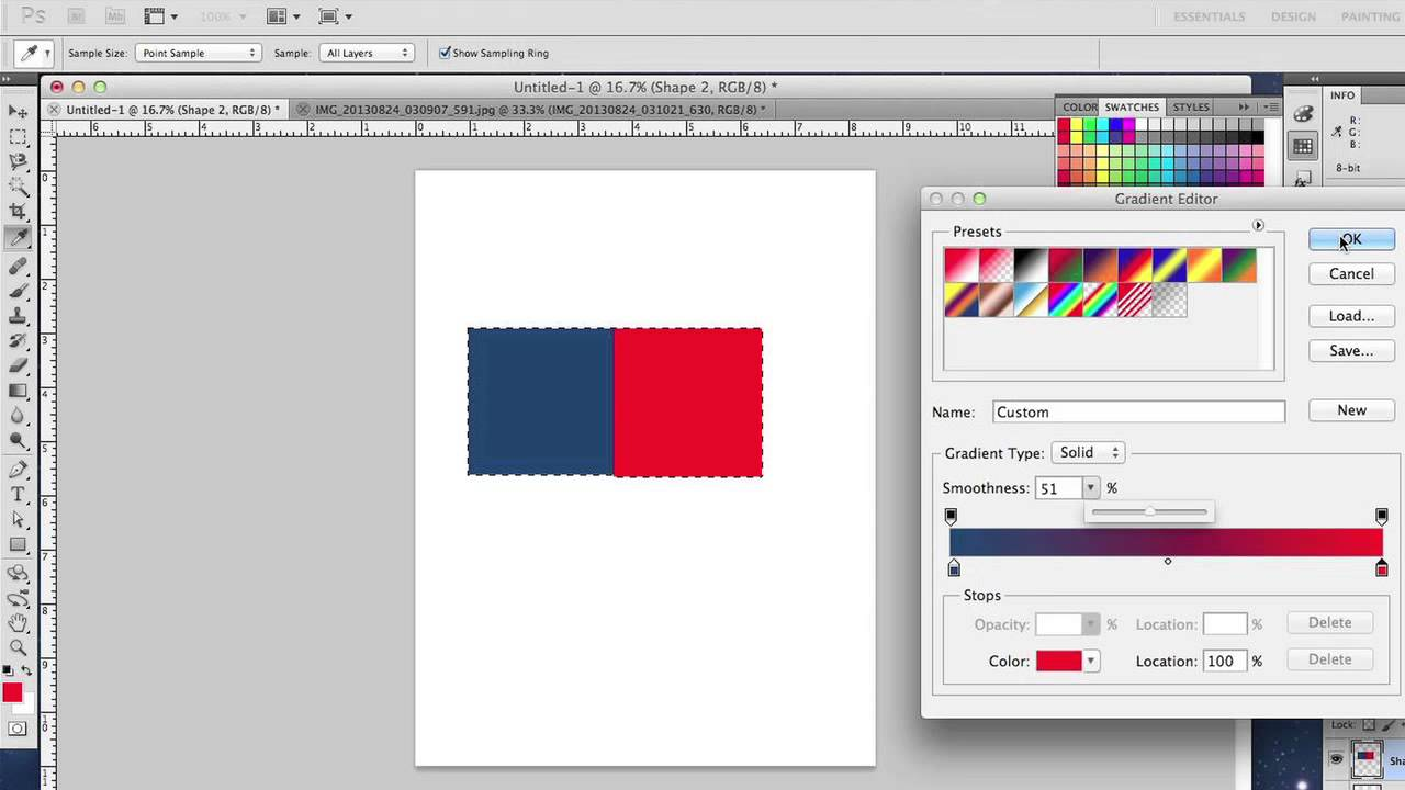 Colors to how photoshop blend in