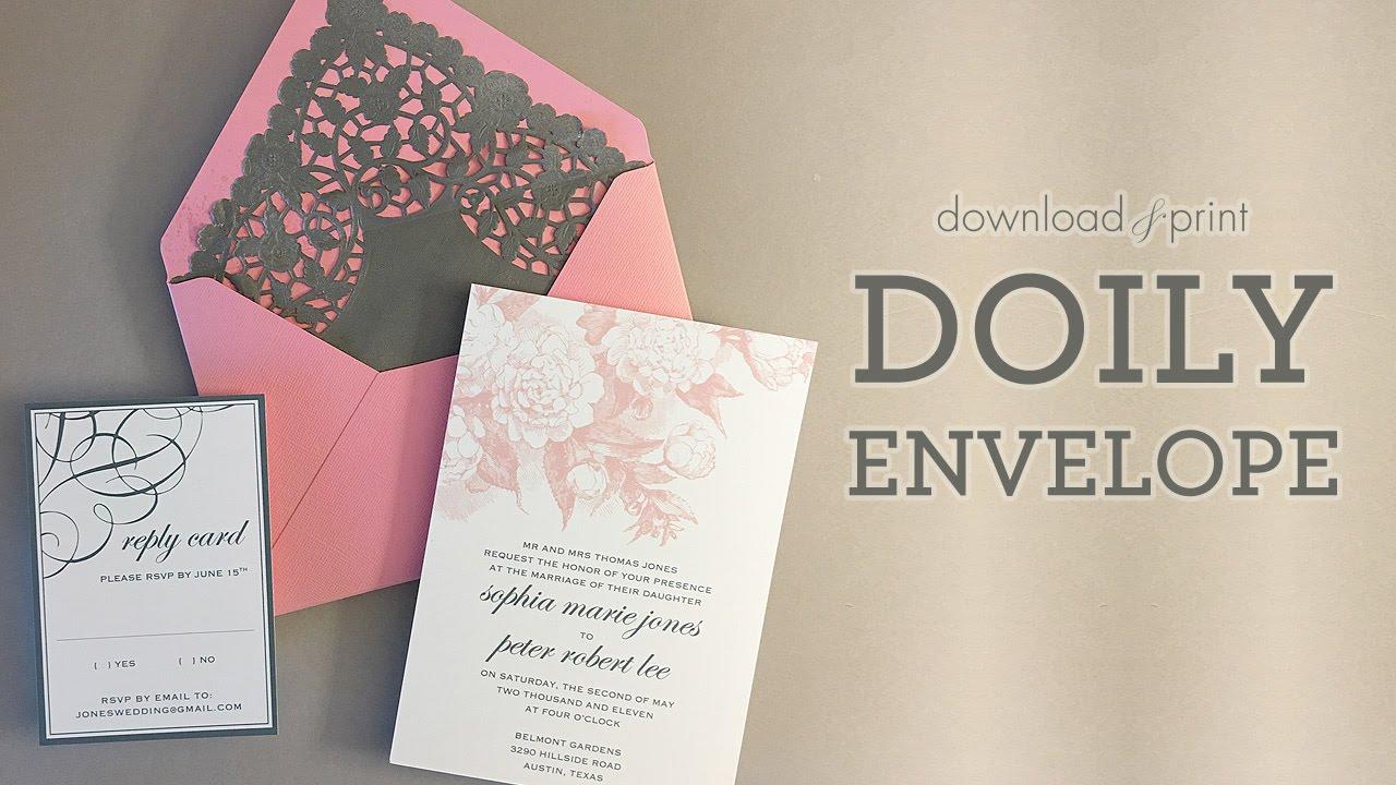 Pretty DIY Doily Envelope Liner