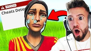 Reaction to HACKER will BE LIVE GEBANNT in Fortnite ..