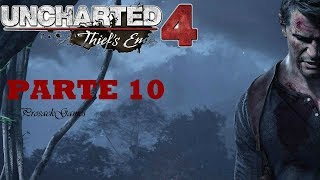 Uncharted 4: A Thief's End PS4 PRO Gameplay Completo | Naufragio Parte 10