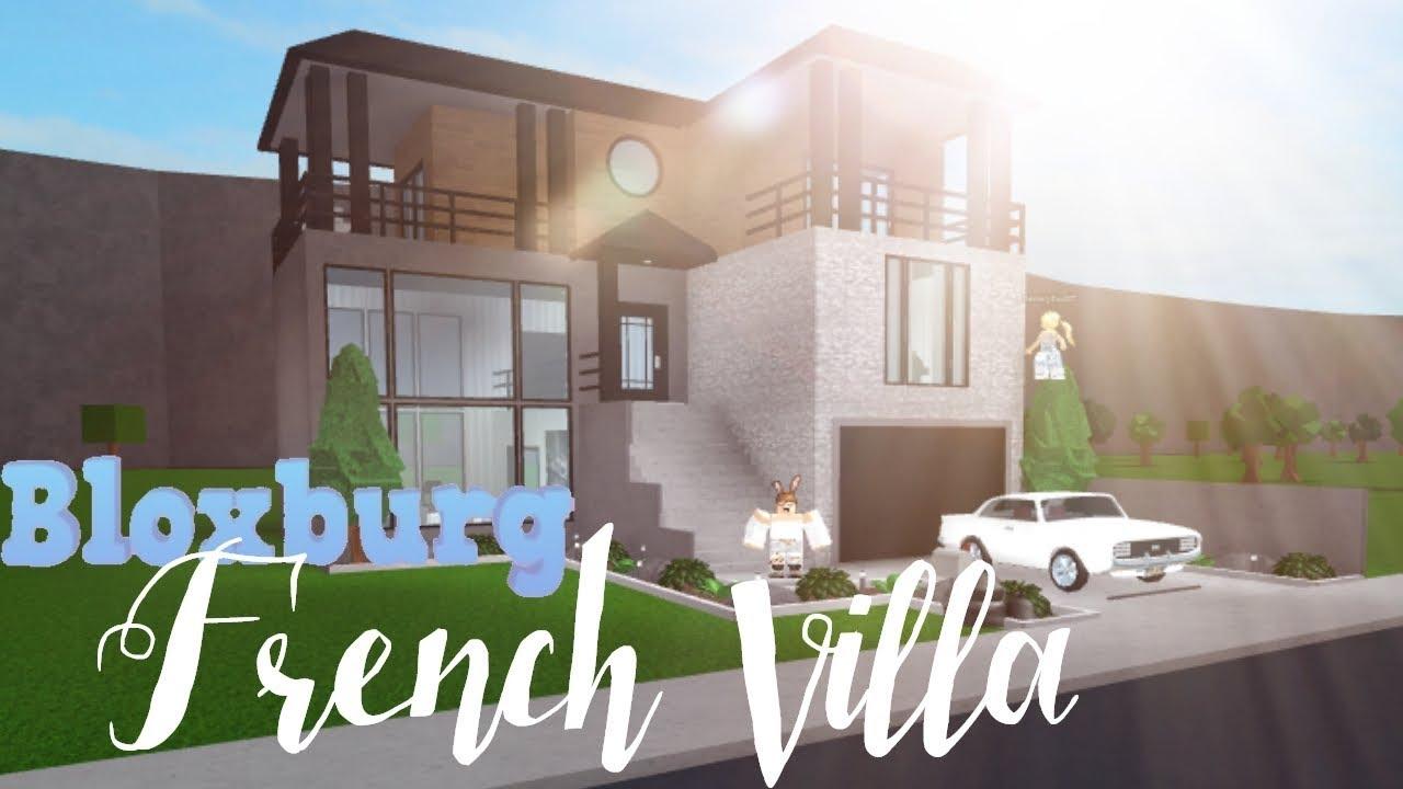 Bloxburg Modern French Villa 41k Youtube