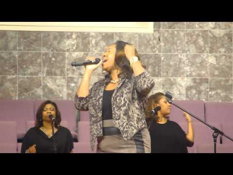 "Lisa Knowles Singing ""He Brought Me"" by Dorinda Clark Cole."