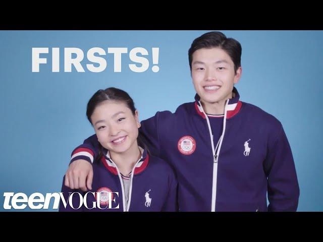 Maia and Alex Shibutani, Ice Dancing Siblings, Talk Firsts | Teen Vogue