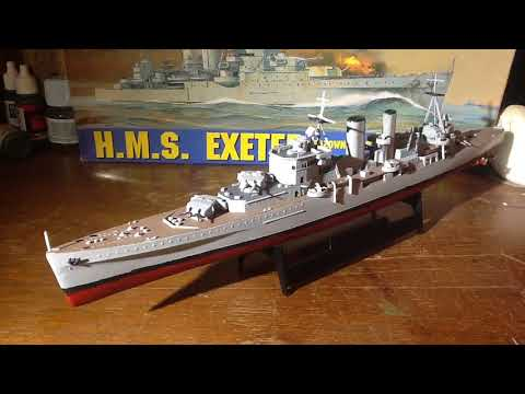 HMS Exeter 1.500 scale model review