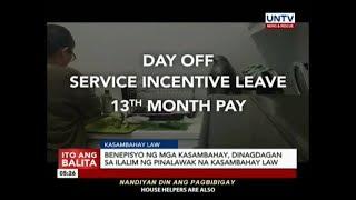Benepisyo ng mga kasambahay, dinagdagan sa ilalim ng pinalawak na Kasambahay Law