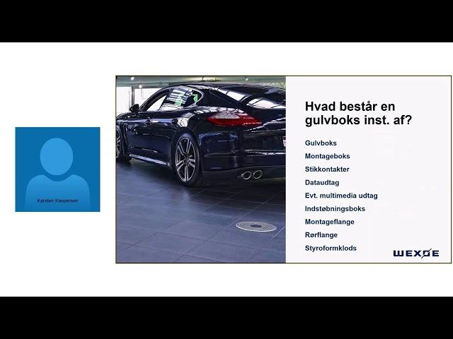 Wexøe webinar Korrekt valg af gulvboks