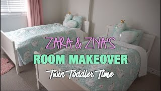TWIN TODDLER'S ROOM MAKEOVER | TWIN TODDLER TIME