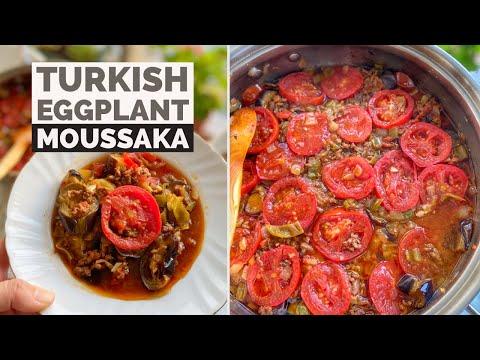 "Turkish Eggplant Moussaka ""Patlıcan Oturtma / Musakka"""