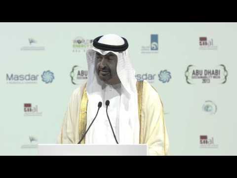 IWS 2013- HH Sheikh Mohammed Bin Zayed Al Nahyan - Opening ceremony speech