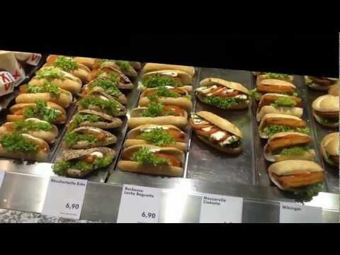 Swiss train station fast food