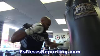 Gerald Washington DRILLS THE HEAVY BAG!!! - EsNews Boxing