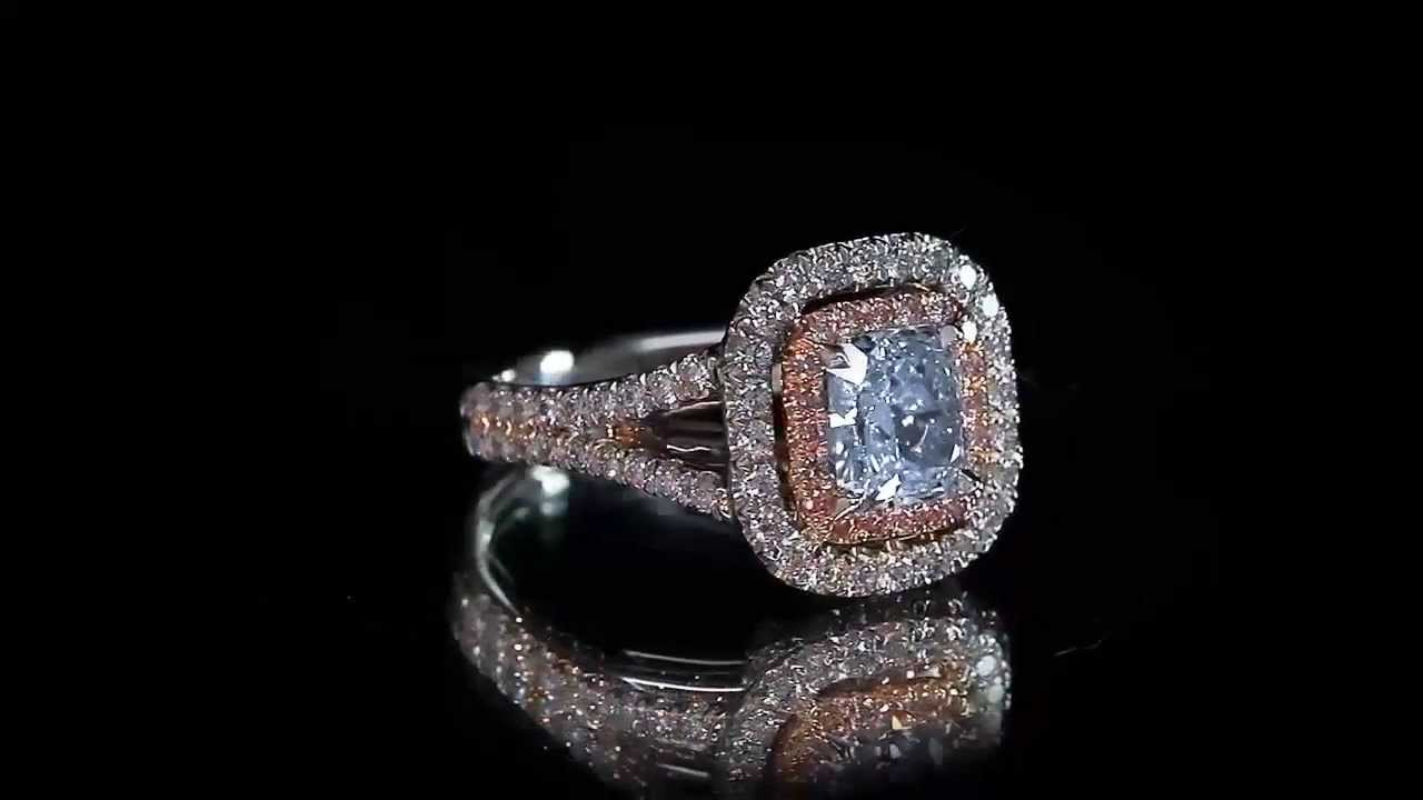 fancy blue engagement ring top luxury jewelry made