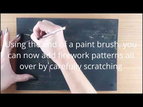 #MakeitMonday | Scratch Art Firework Pictures