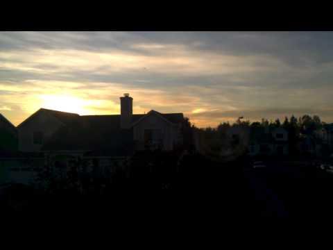 Weird light in sky at sunset UFO?