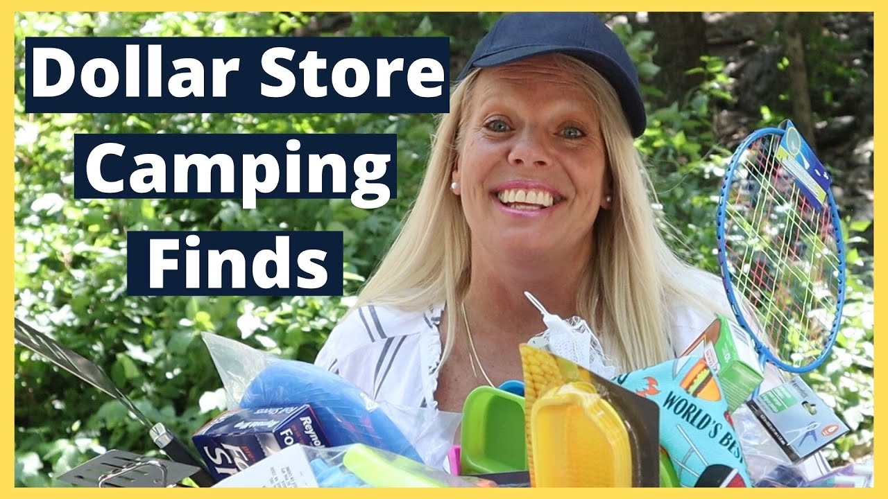 The Dollar Store - A great way to save money on camping supplies!