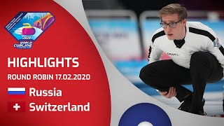 HIGHLIGHTS: Russia v Switzerland - Men's round robin - World Junior Curling Championships 2020