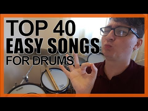 Top 40 Easy Songs To Play On Drums For Beginners - www.DrumsTheWord.com
