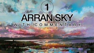 Seascape Oil Painting: Arran Sky Part1