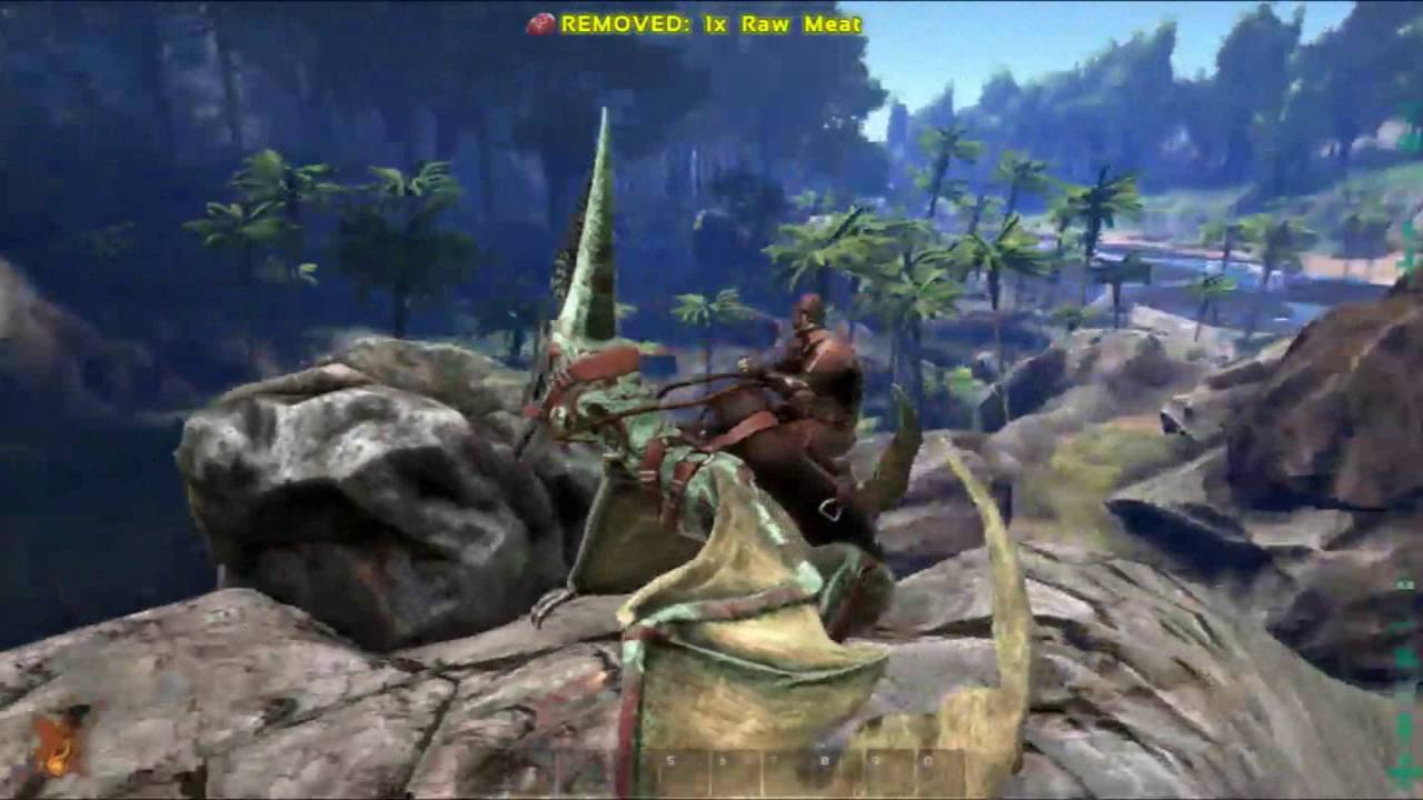 Ark Survival Evolved S2 E2 Pteranodon Taming And Stone Walls