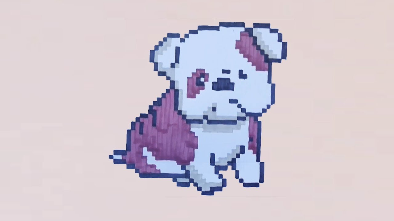 Comment Dessiner Un Bulldog En Pixel Art
