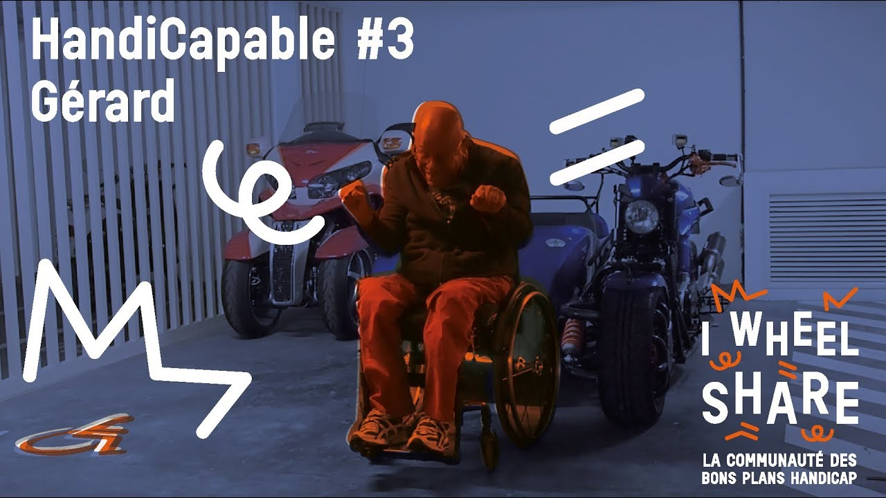 Handicapable n°3 : Gérard Lefort Motard à roulettes