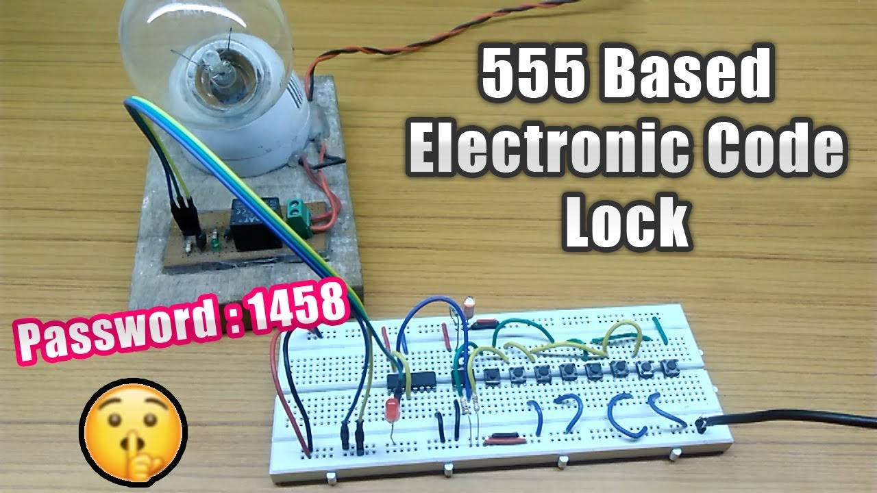 555 Timer Based Electronic Code Lock Circuit