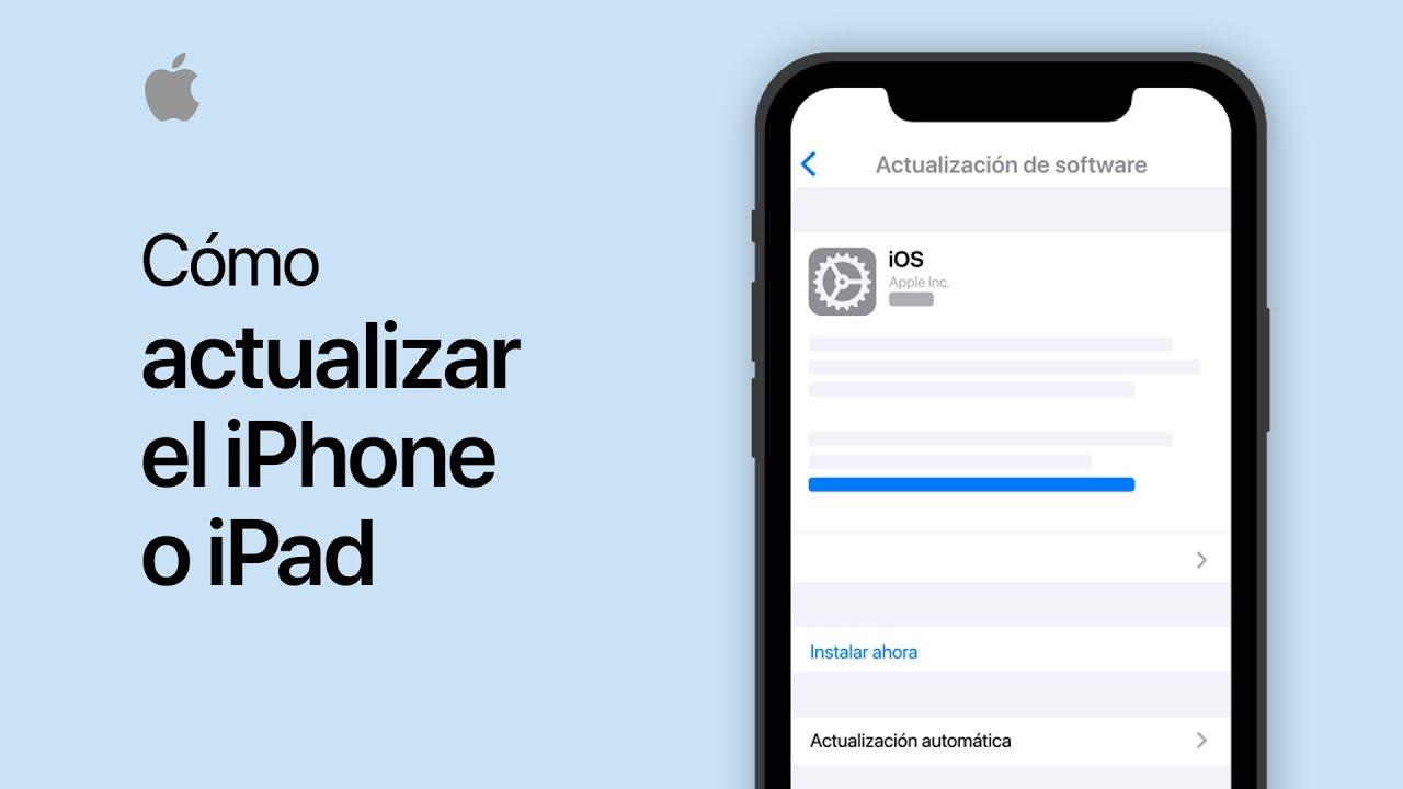 Cómo actualizar el iPhone, iPad o iPodtouch - Soporte técnico de Apple