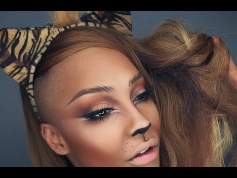 lion tiger halloween makeup tutorial sonjdradeluxe - Tiger For Halloween